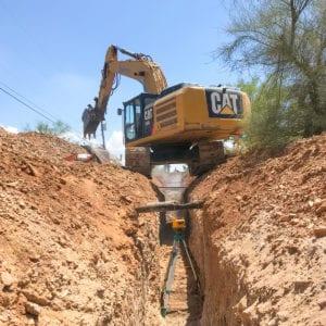 trackhoe excavator