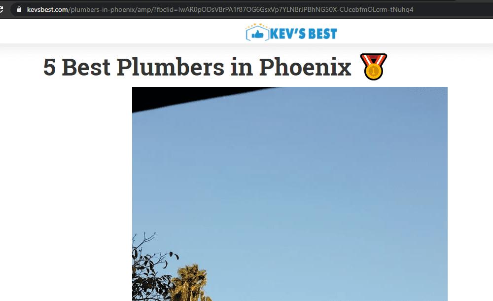 5 Best Plumbers in Phoenix